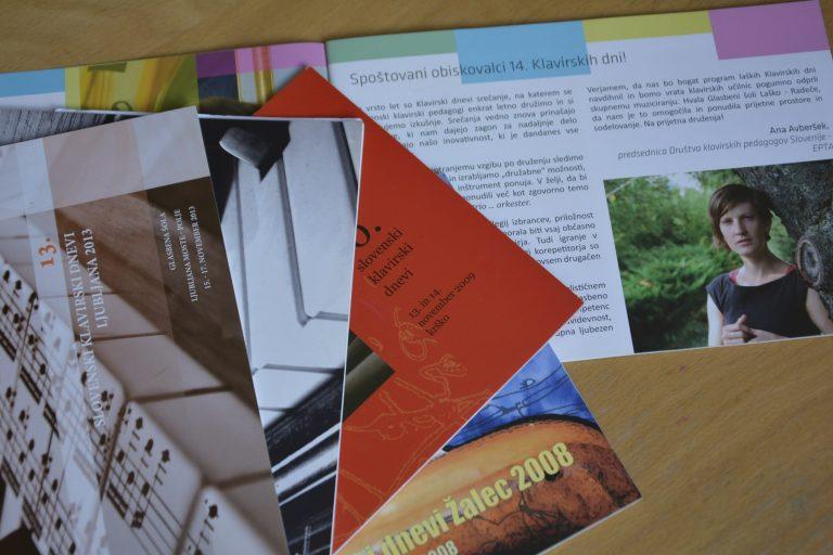 Broschüren - Klaviertage 2008 - 2013
