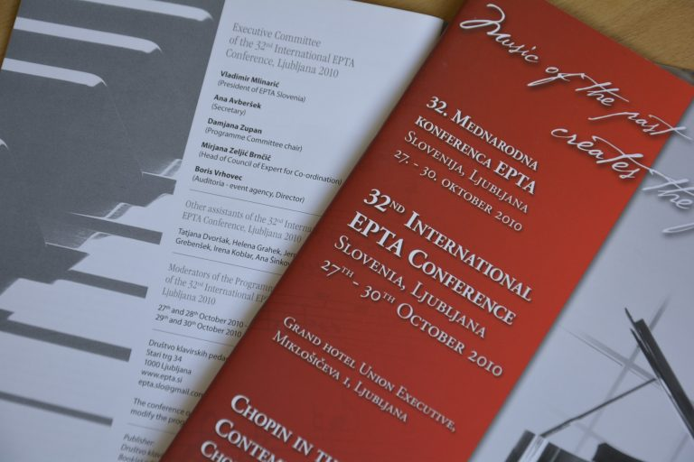 International EPTA Piano Conference - Booklet